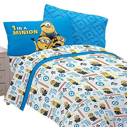 (Minions Super Cute at Work' Twin Sheet Bedding Set, Pillowcase)