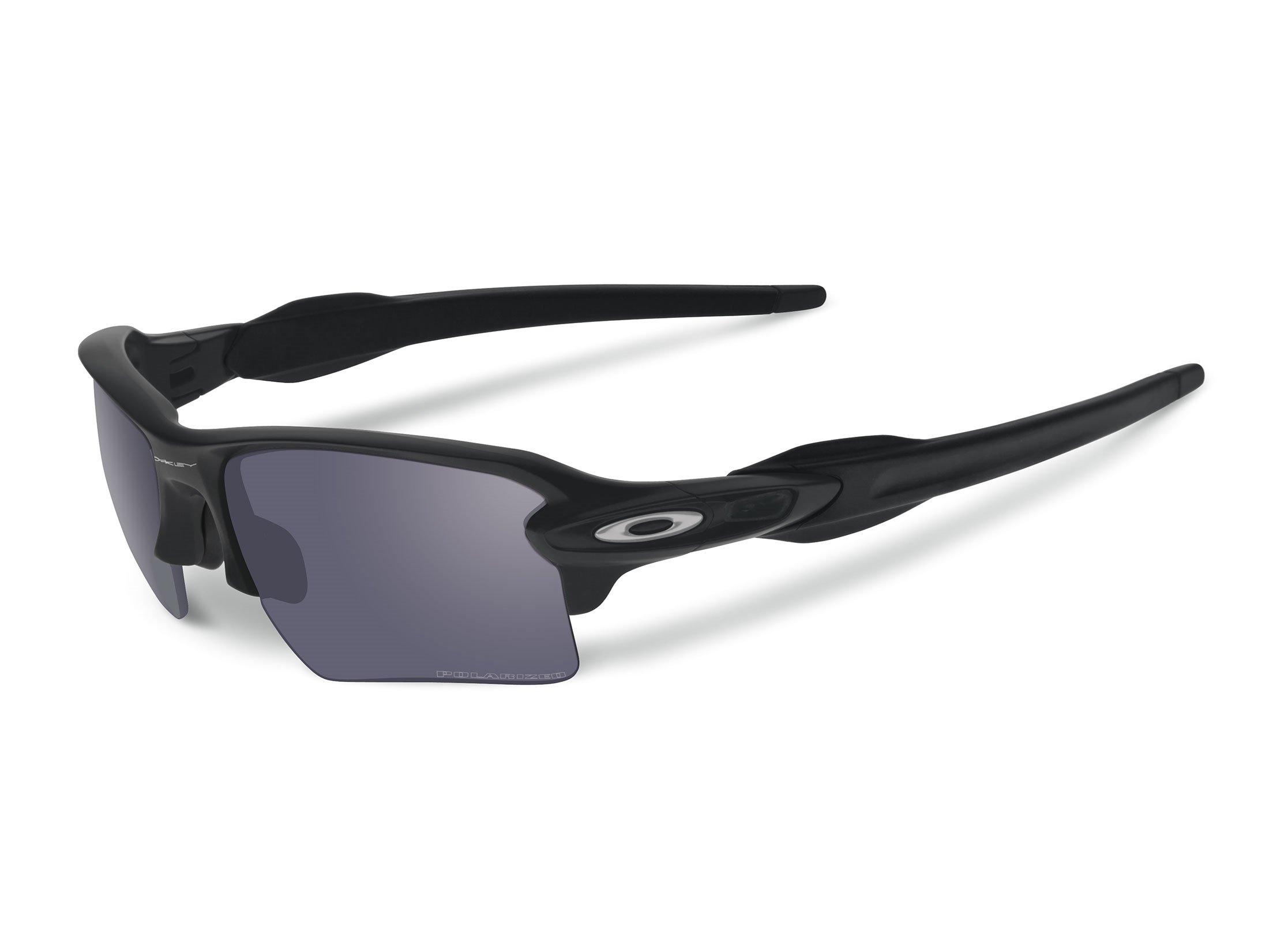Oakley Mens Sunglasses Black/Grey - Polarized - 59mm