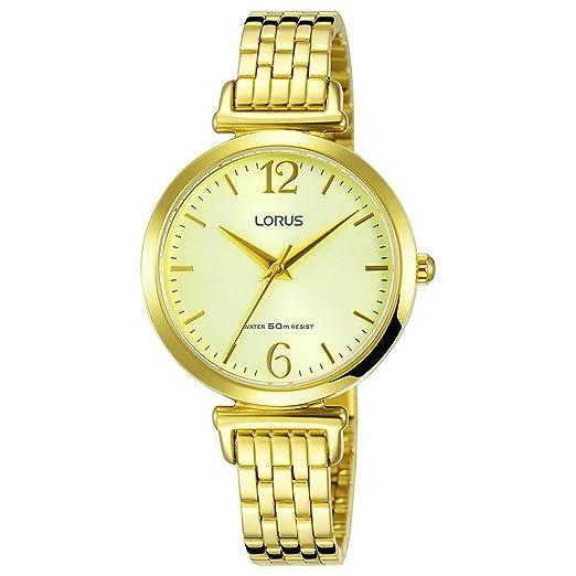 Lorus Reloj Analógico para Mujer de Cuarzo con Correa en Acero Inoxidable RG222NX9: Amazon.es: Relojes