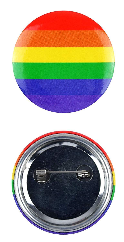 labreeze Adultes Arc-en-Ciel Broche Bouton Pride Badge LGBT Drapeau Libert/é/Év/énement Mars Accessoire