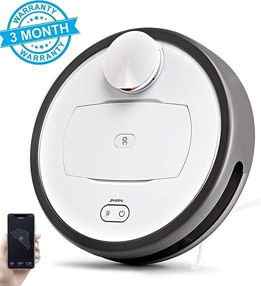 GJF Robot Aspirador, 2 En 1 Robot De Limpieza Barre Y Friega,Robot Aspirador Navegación Aleatoria(Blanco): Amazon.es ...