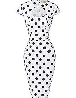 GRACE KARIN® 50s Vintage Rockabilly Kleid Pencil Bleistift Kleid Bodycon Kleid