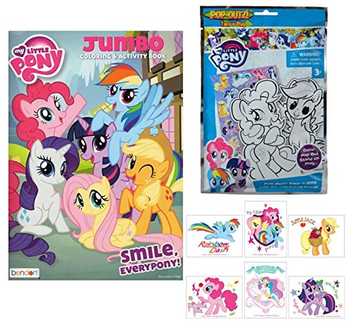 My Little Pony Coloring Book, Temporary Tattoos & Play Set b