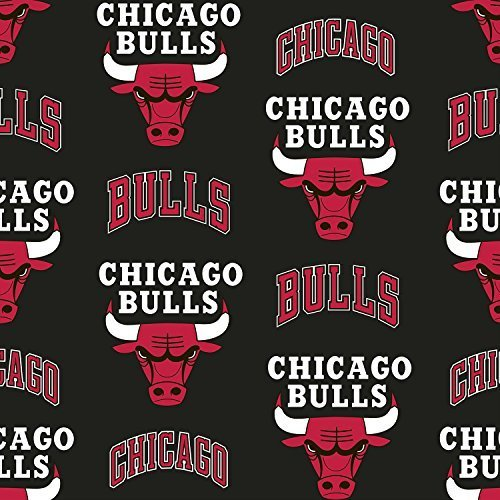 - Fleece Chicago Bulls NBA Basketball Sports Team Fleece Fabric Print by the Yard (A609.13)