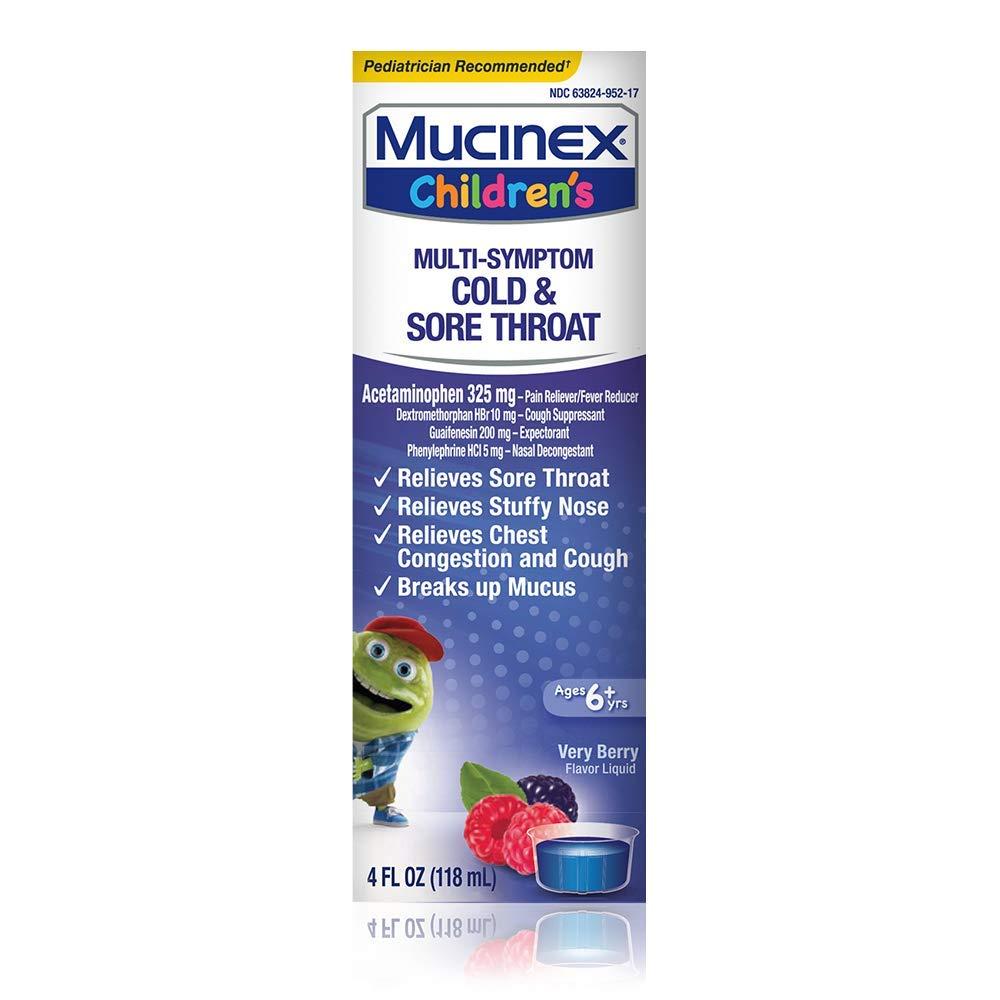 Amazon Com Mucinex Children S Cold Cough Sore Throat
