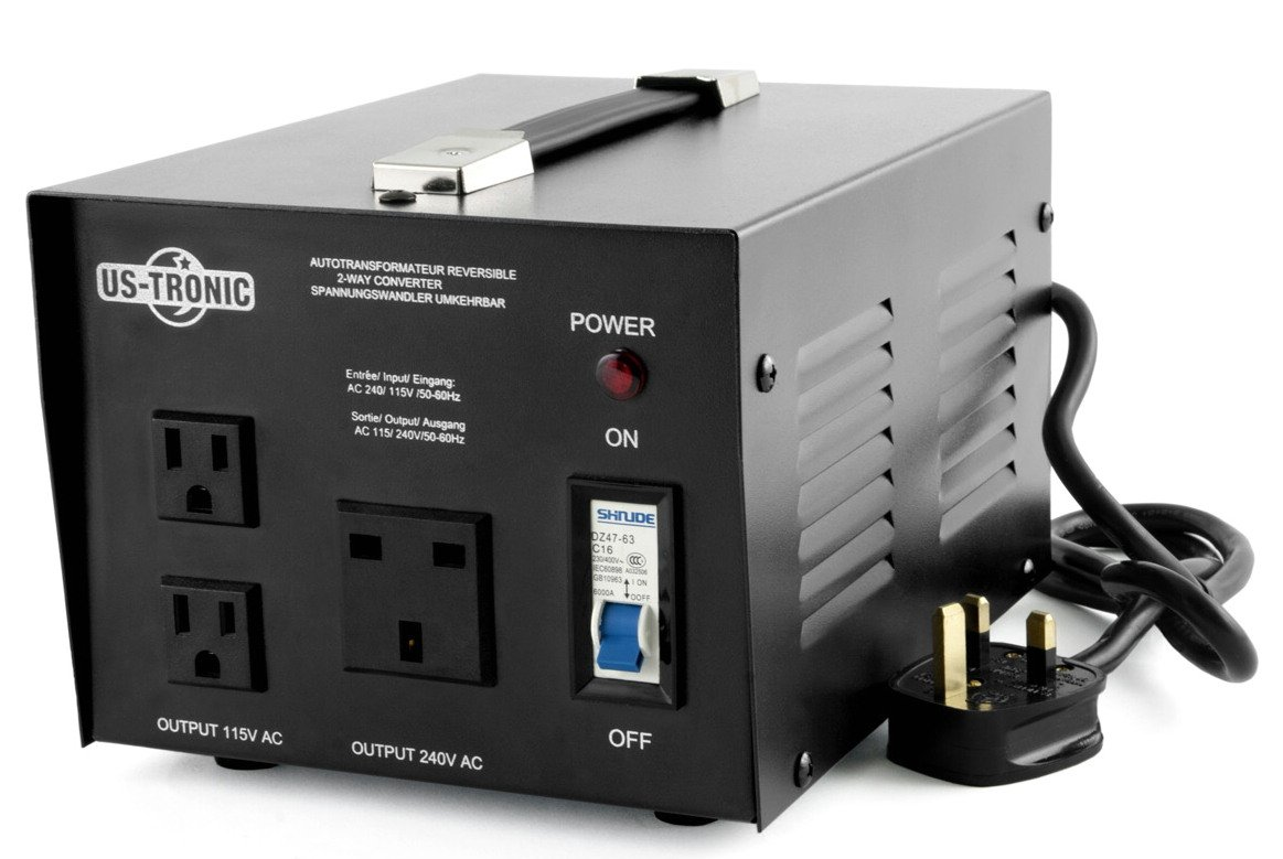 ADAPTOO STEP UP AND DOWN TRANSFORMER (120V TO 240V AND 240V TO 120V) SPECIAL FOR UK 200 WATTS TTR-200-UK