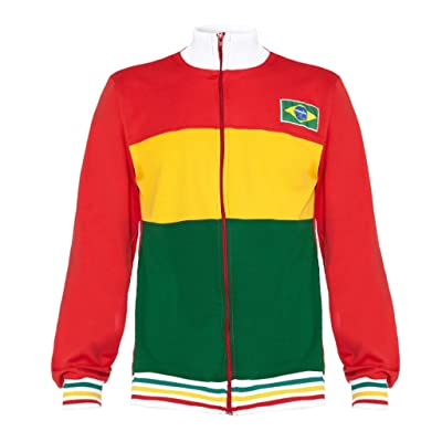 Authentic Brazilian Long Sleeved, Capoeira Zip Up Jacket - Unisex (White, Red, Yellow and Green)