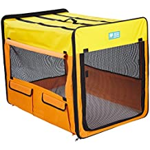 Guardian Gear ZA420 38 Collapsible Crates for Dogs and Pets-Extra Small, Purple/Turquoise