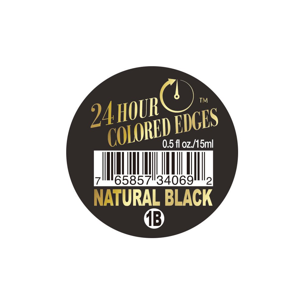 24 Hour Colored Edges #1B Natural Black 0.5oz/15ml + 1 Free Sample