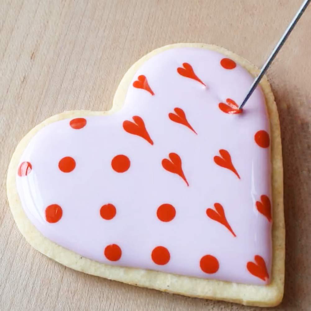Royal Icing Cookie Tools Set for Cake Decorating Fondant Needle Orange 2PCs Scriber Needle Modelling Tool