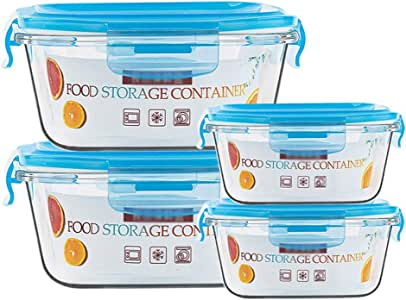 LINGLING Container Sets Food Storage Container With Lids - Airtight Keep Food Fresh Glass Food Storage Containers With Lids Airtight Leak Proof -Meal Prep Containers