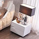 Mini bedroom bedside table with wheels simple modern white drawers solid wood locker storage cabinet bedside cabinet-A 50x40x40cm(20x16x16inch)
