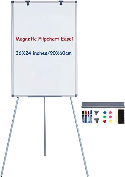 Flipchart Coyote einfach zu transportieren abwischbar Dreibein St/änder variable Papierhalterung zusammenklappbar Whiteboard mit St/änder magnetisch beschreibbar