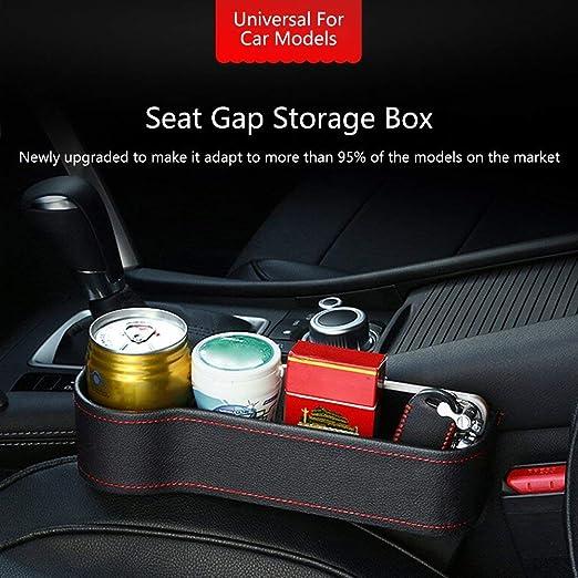 Sunzit Brecha Pluma Auto Asiento, portavasos Auto Asiento Gap Caja Smartphone Accesorios Auto Bolsillo Lateral Multifuncional Caja Organizador: Amazon.es: ...