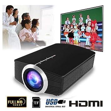 Proyector de Video, proyector de películas portátil con Pantalla ...