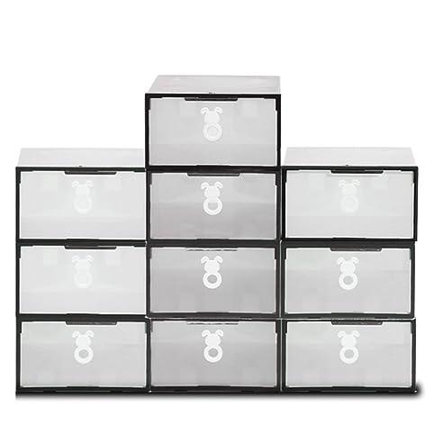 Schuhbox, ISWEES 10 Set Plastik Schuhbox Schuhkasten Lagerkasten Clear Boxen  Schuhschachtel Für Aufbewahrung Schuhe Faltbare