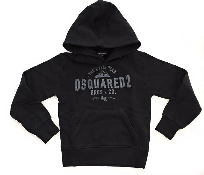 DSQUARED2 Bambino DQ02VTBD00P6 Black Felpa Inverno  Amazon.it  Abbigliamento d91f70fc954b