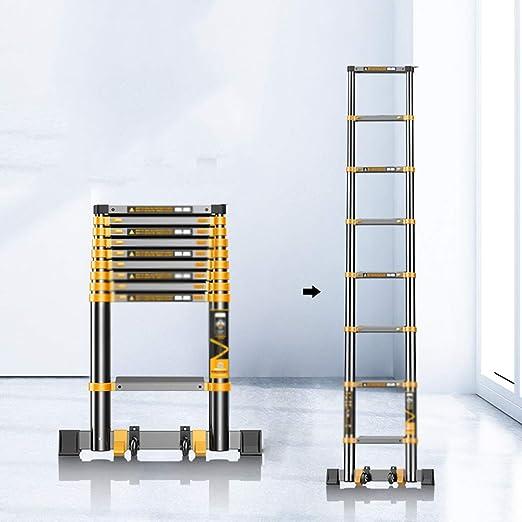 CKR Escalera Plegable De Pared A Pared, Tubo Telescópico De Aluminio Espesado Recta Escalera, Hogar Portátil Plegable Recta Escalera, Pedal Ensanchamiento,4.7M: Amazon.es: Hogar