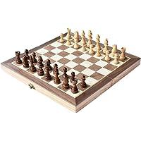 """HOWADE Ajedrez 12 """"x12 Pulgadas Juego de Tablero de Madera ajedrez magnético Hecho a Mano Piezas de ajedrez Viajar Juegos de Mesa internacionales"""