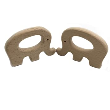 Kids Teether Sika Deer Teething Nursing Natural Wooden Toy Organic Chew AT