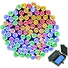 [18650 Battery Included]Battery Operated String Lights,ApexPower Christmas Lights 200LED 72ft 8 Modes with Automatic Timer for Outdoor Indoor Xmas Garden Patio Tree Decorations(Multicolor)