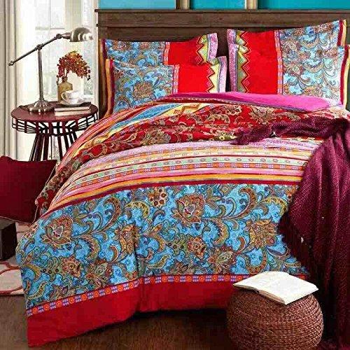 beddingleer Extreme luxuryduvet/Bettbezug Sets 100% Baumwolle Vier Jahreszeiten, natur Romantische, hellen Farben, Einzigartige Stil
