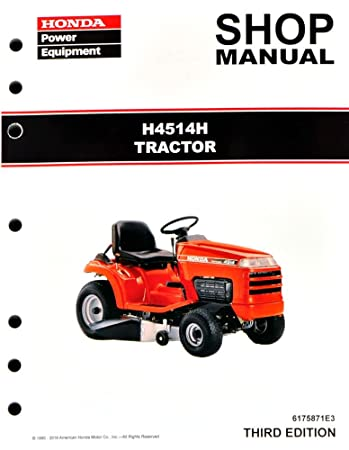 amazon com honda h4514 h4514h lawn tractor mower service repair rh amazon com honda mower manual hrx 217 honda mower manual hrm 215