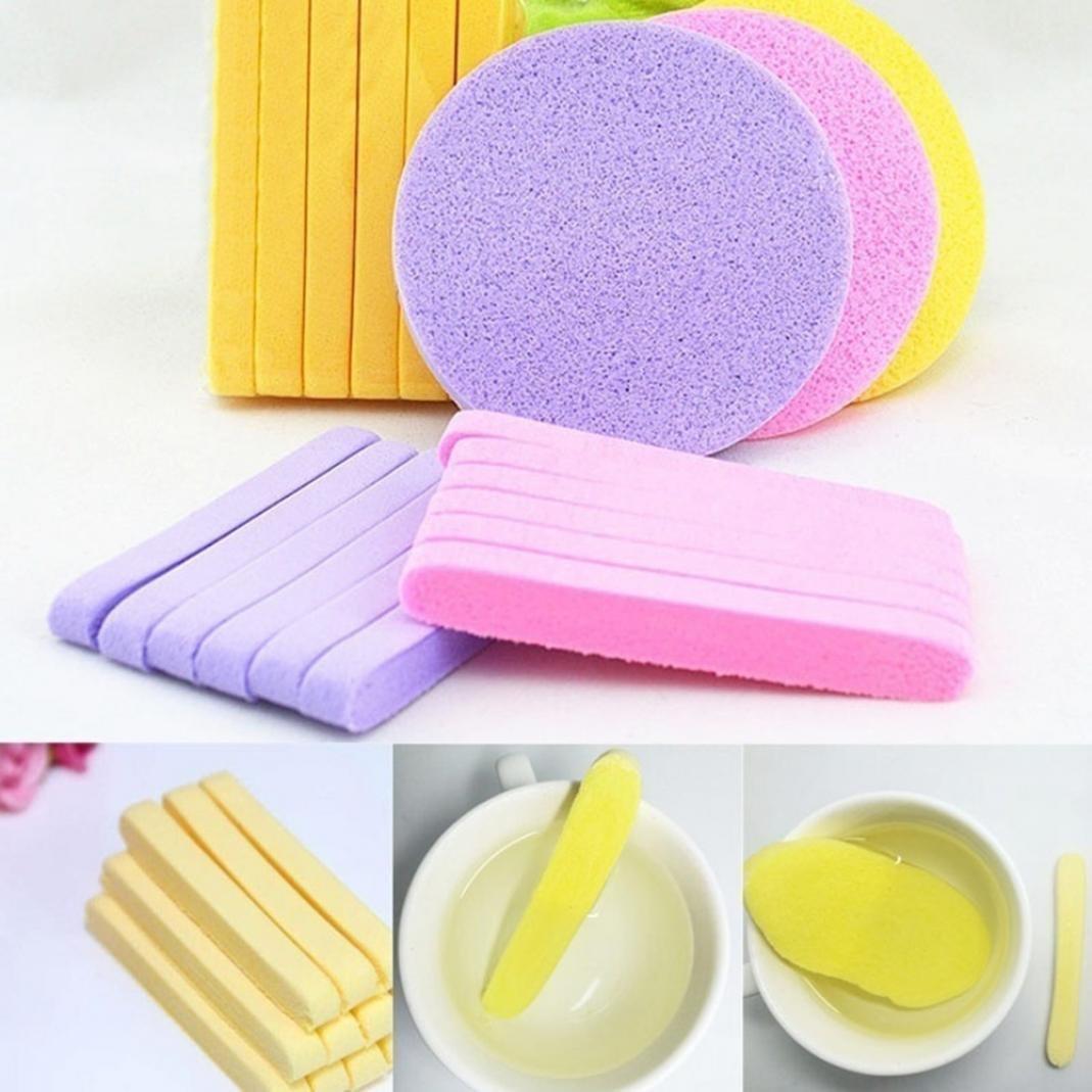 12PCS compressione viso pulizia make up Puff Sponge bars anti-batteri spugnetta di pulizia Lavare viso bellezza spugne sciolto fondotinta in polvere applicatore Brussels08