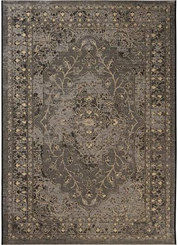 Safavieh Palazzo Collection PAL128-1621 Black and Cream Area Rug 8' x 11'