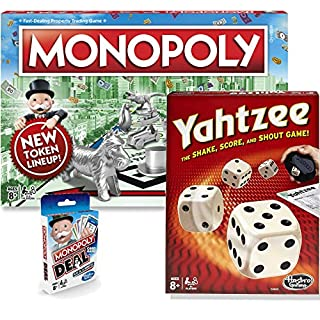 Classic Monopoly & Classic Yahtzee Bundle   Now with Monopoly Deal   Exclusive Bundle by Brishan