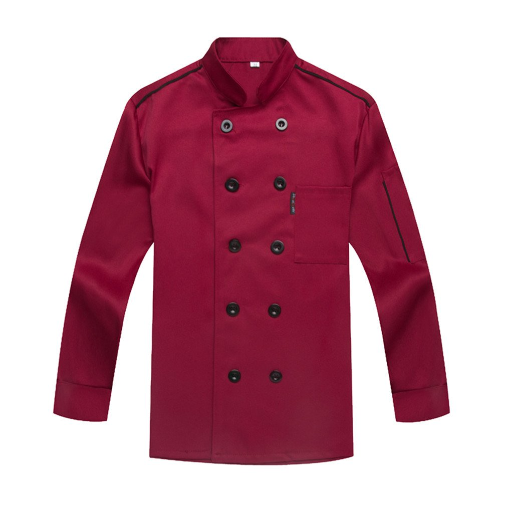 Chef Apparel Chef Jacket Service Coat Unisex Long Sleeves WAIWAIZUI