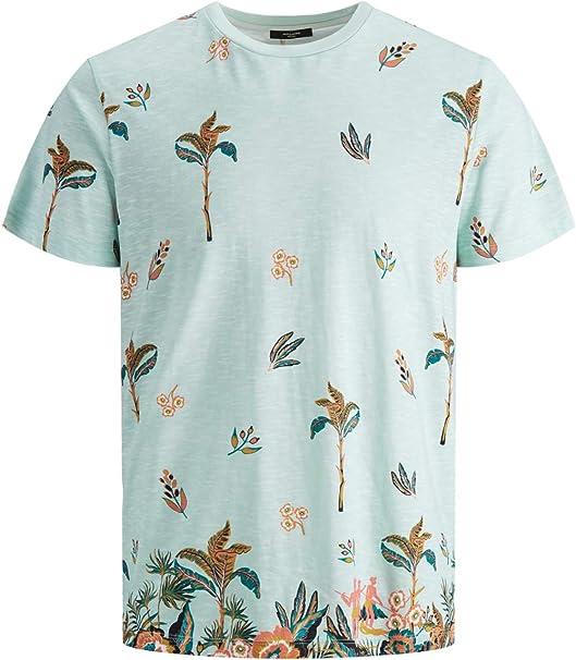 Jack & Jones - Camiseta para Hombre, diseño de Flores Verde L …: Amazon.es: Ropa y accesorios