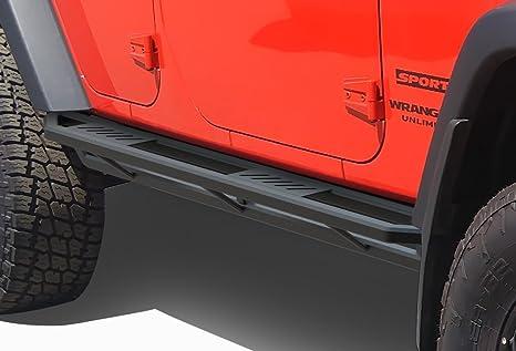 iArmor Off-Road Black Side Steps Armor For 07-17 Jeep Wrangler JK 4-Door