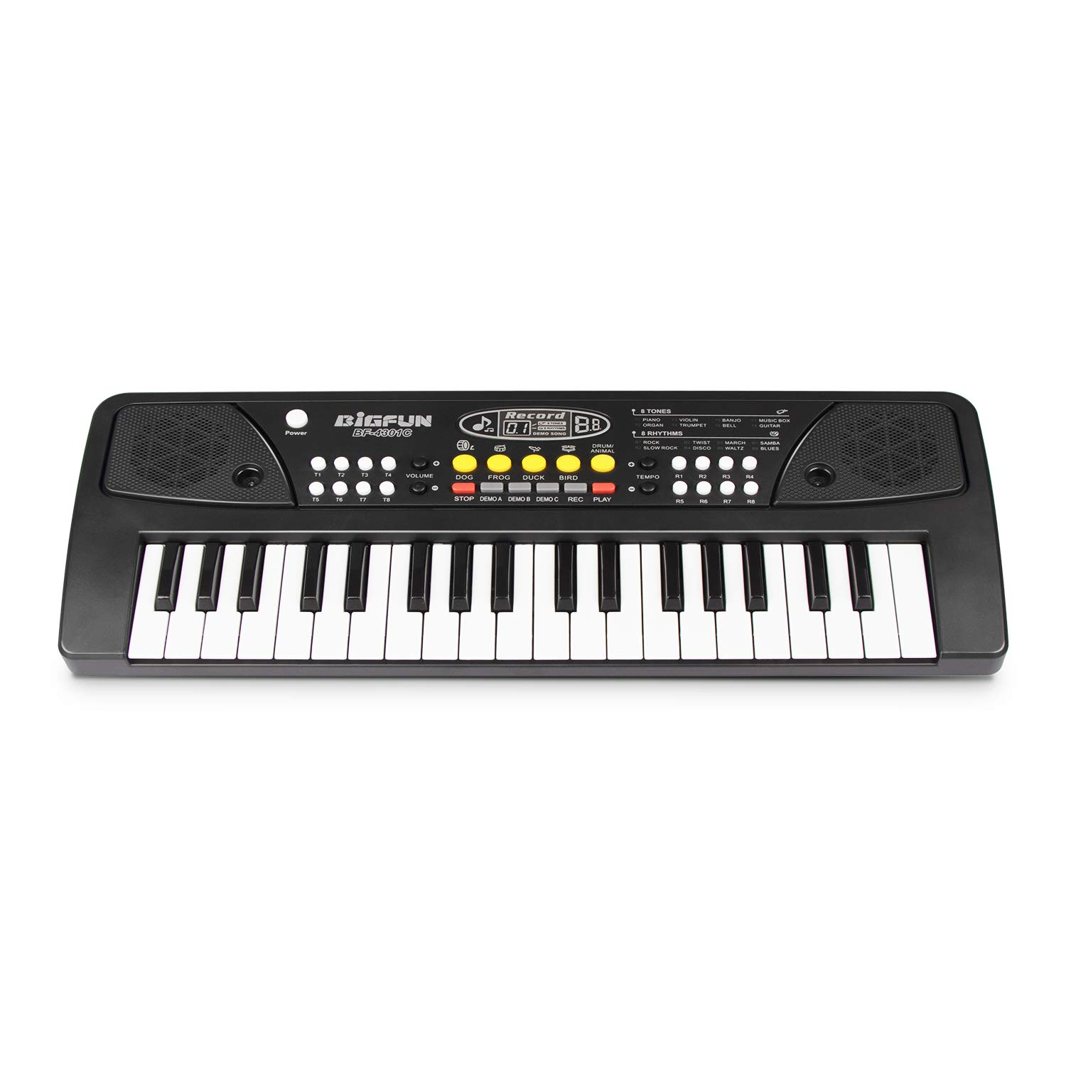 SAOCOOL Keyboard Piano for Kids, 37 Keys Multifunctional Charging Electronic Kids Keyboard Piano Toy for Children Over 3 Years Old (Black)