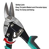 BONSWAGOO 3 Pieces Aviation Tin Snips Set Cutting