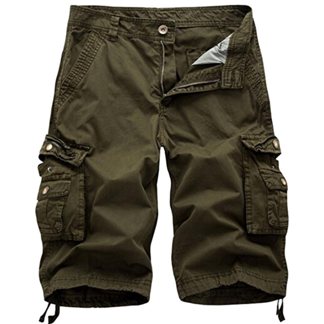 Men's Pants, Limsea Pure Color Outdoors Pocket Beach Work Trouser Cargo Shorts Pants