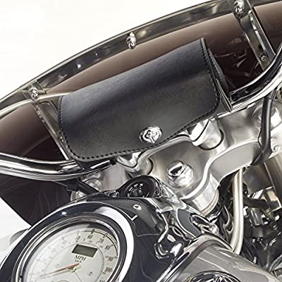 Dowco Willie & Max 59511-00 Revolution Series: Synthetic Leather Motorcycle Handlebar Bag, Black, Universal Fit: Automotive