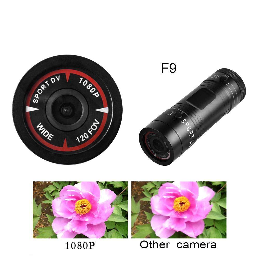 Grade Hochaufl/ösende Weitwinkelobjektiv Mini Portable Sport Kamera Voll HD 1080P Wasserdichte Fahrrad Auto Outdoor Sport DV Videokamera Asixx Fahrradkamera 120 Grad A