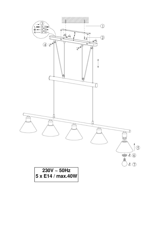 trio jojo balkenpendel e14 l 102cm nickel matt glas opal mattwei beleuchtung. Black Bedroom Furniture Sets. Home Design Ideas