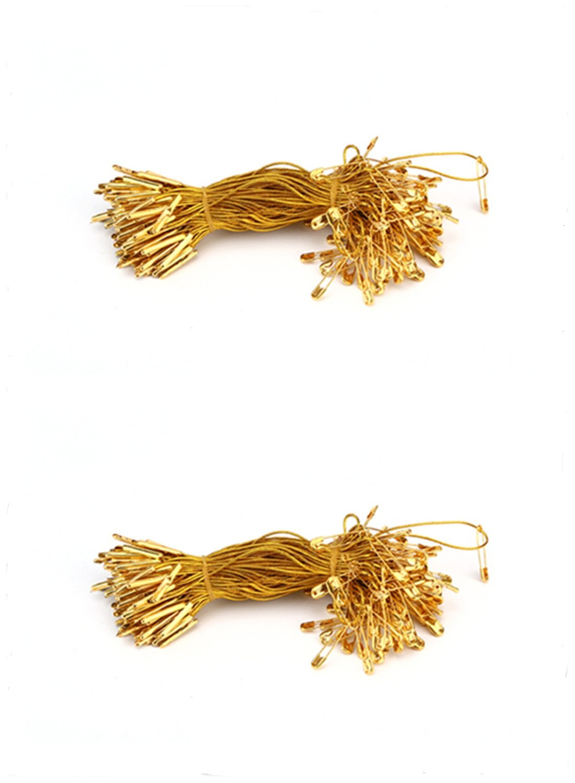 Nylon Garment Hang Tag String, Clothing Lanyard Tag Rope with Safety Pin, (Golden Color)-2300Pcs