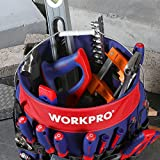 WORKPRO Bucket Tool Organizer with 51 Pockets Fits