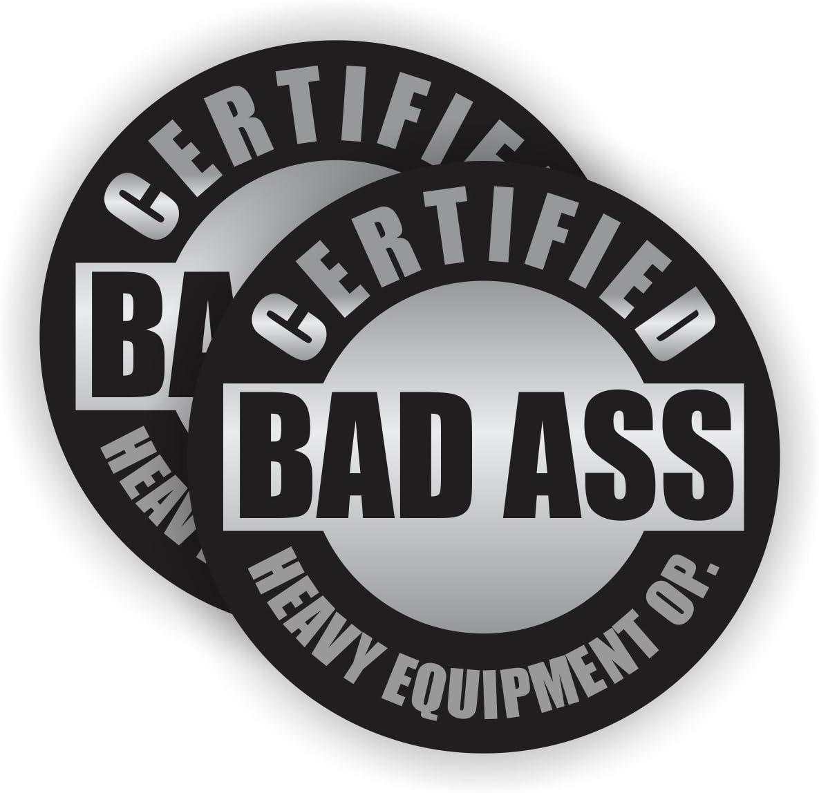 Bad Ass Waterproofer Hard Hat StickerMotorcycle Helmet Toolbox Decal Label