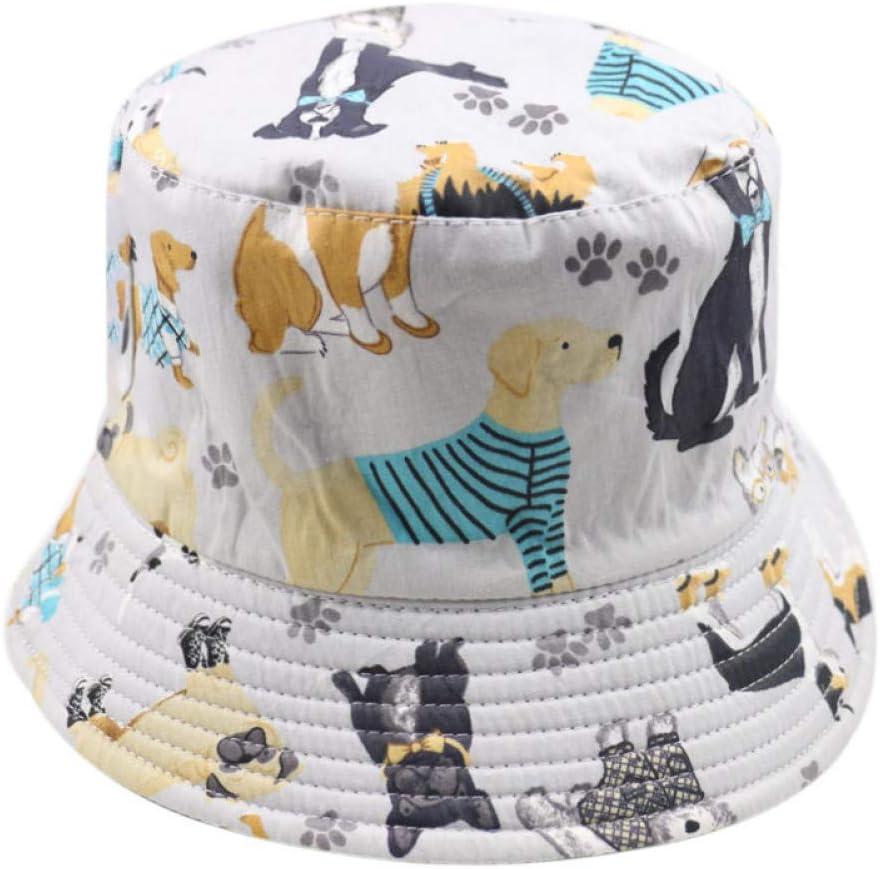 JINGRU ModaLindaGris Mascota Perro Pata Imprimir Cubo Sombreros Gorras Mujer Hombre Perro Amante Regalos