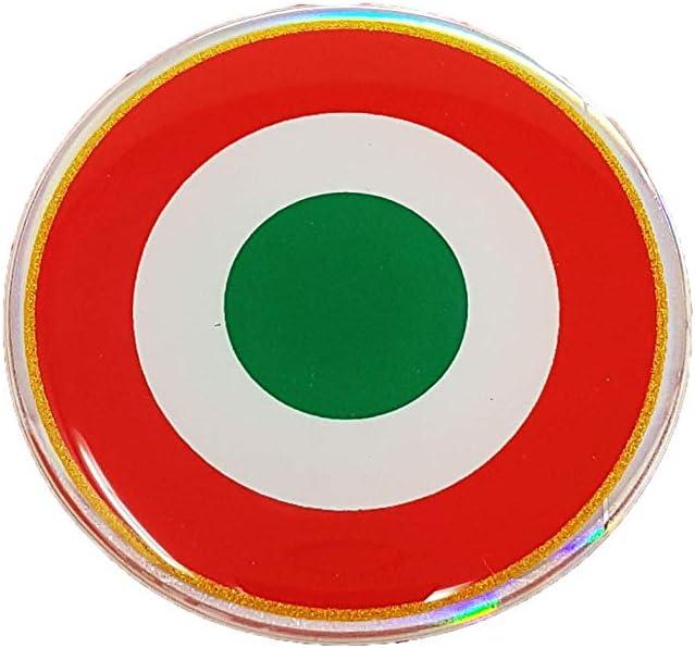 4R Quattroerre.it 6119 Adesivo Coccarda Italia 10 x 12 cm