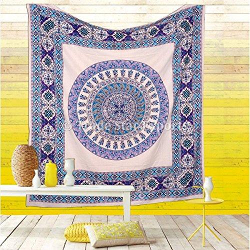 Urban Tapestry Wall Hanging  Indian Cotton Bedspread  Mandala Throw  Bohemian Dorm Decor  Hippie Tapestries  Boho Picnic Blanket  Gypsy Beach Throw