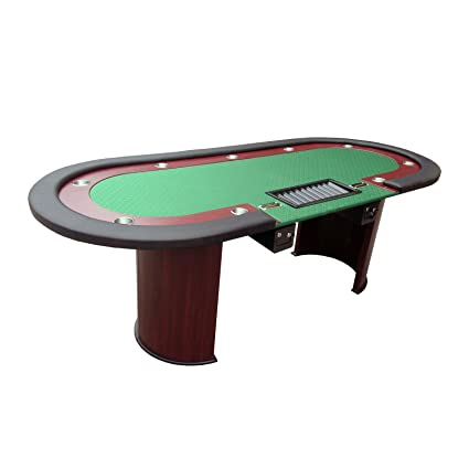 IDS Professional Solid Wood Poker Table 10 Players Dining Top With ONE  Steel Toke Drop Box