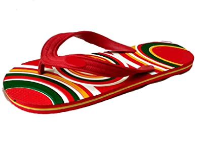 d6a2052f2b7 Xplore Men's Red Rubber Flip-Flop -10: Buy Online at Low Prices in ...
