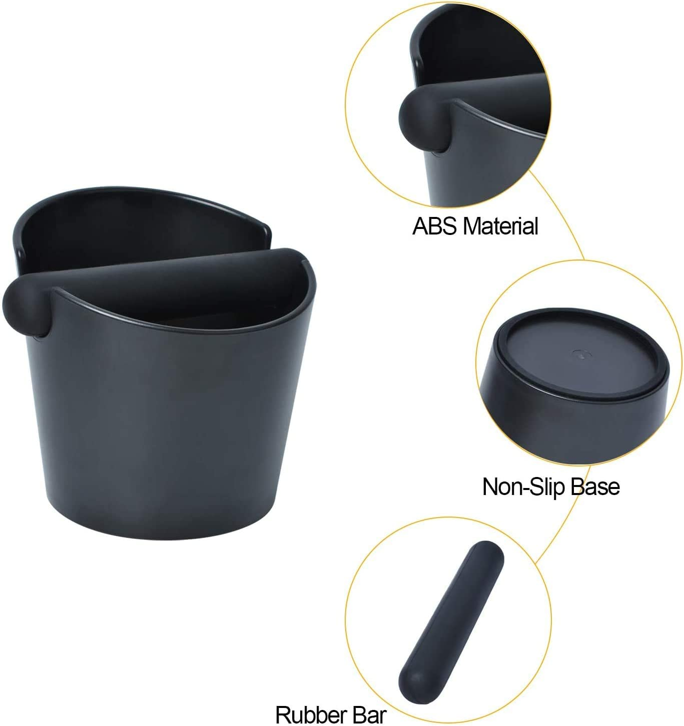 Small Coffee Knock Box Espresso Knock Box Shock-Absorbent Durable Knock Box Easy to Clean