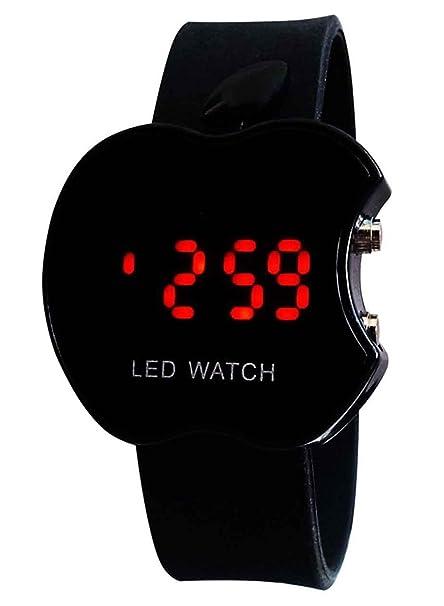 OEM Acorn LED Digital Black Dial Apple Shape Kids Watch Boys