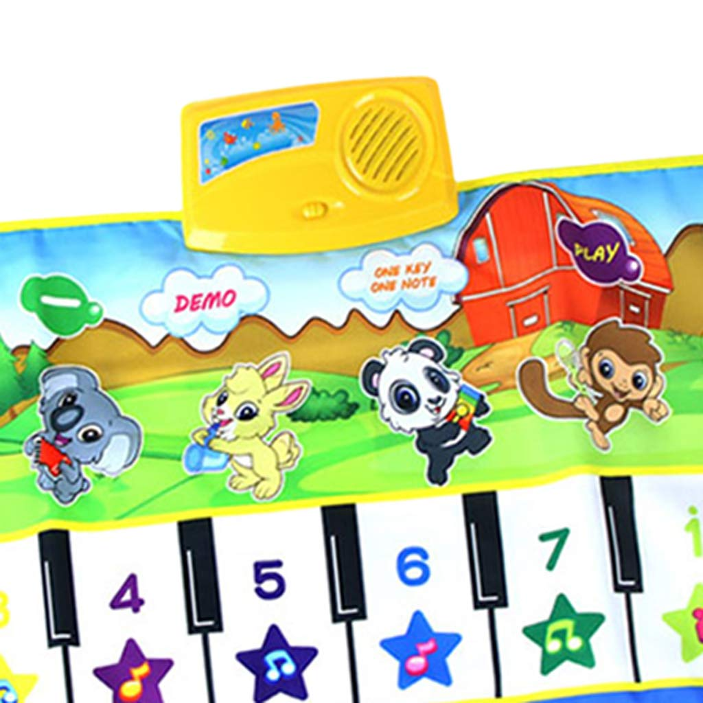SM SunniMix Durable Piano Mat Electronic Music Carpet Touch Play Blanket, Perfect for Kids 2 to 5 Year Olds Dance & Learn (39x14 inch) by SM SunniMix (Image #7)